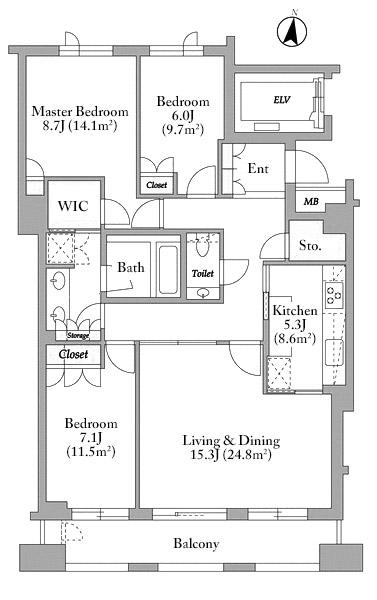 Sunwood Shoto 2F Floorplan