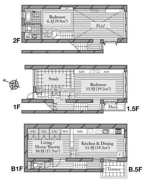 Shirokanedai ist Floorplan