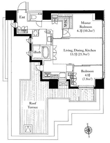 Chalier Jingu-Gaien 5F Floorplan