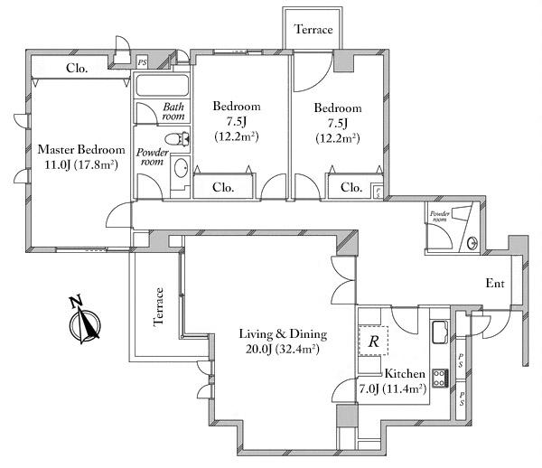 Eastern Homes Hiroo 1F Floorplan