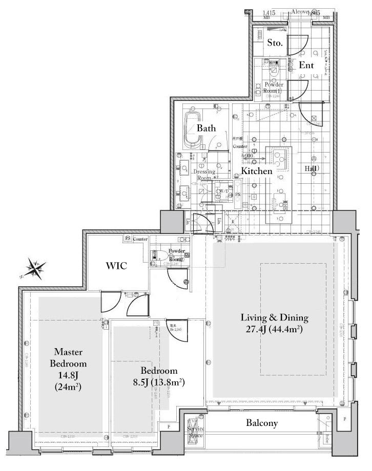 Foretseine Akasaka Hinokizaka 3F Floorplan