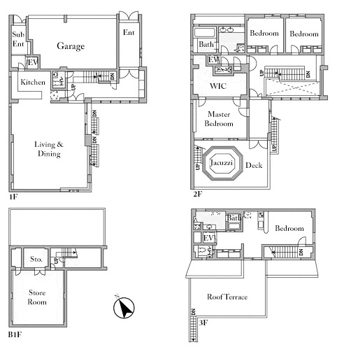 Minami Aoyama 4 House Floorplan