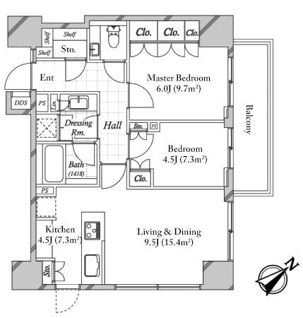 Park court akasaka sakurazaka 11f japan property central for 11 brunel crt floor plan