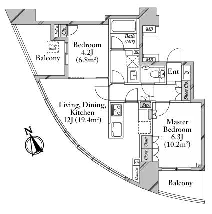 The Conoe Daikanyama 6F Floorplan