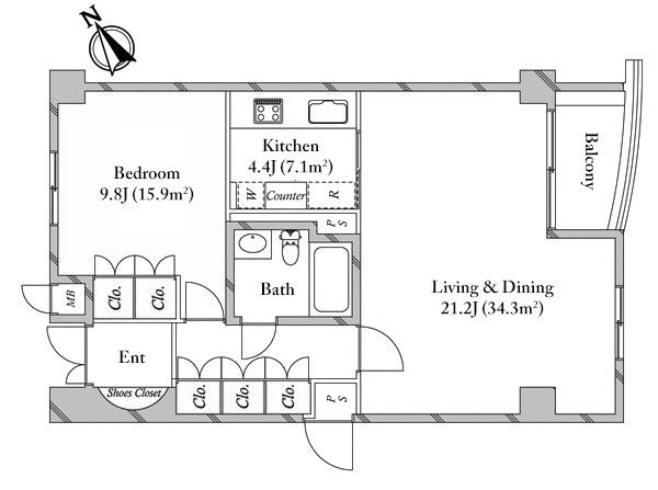The Upper Residences Minamiaoyama 2F Floorplan