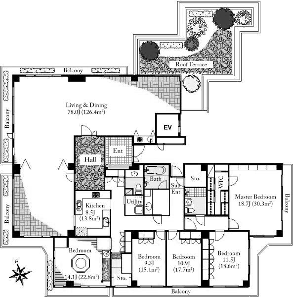domus-nishiazabu-3f-floorplan