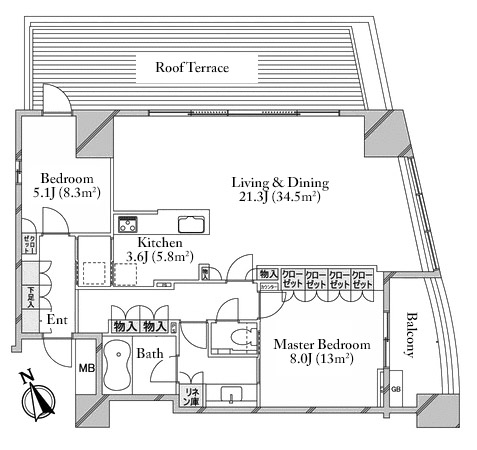the-conoe-daikanyama-6f-2-floorplan