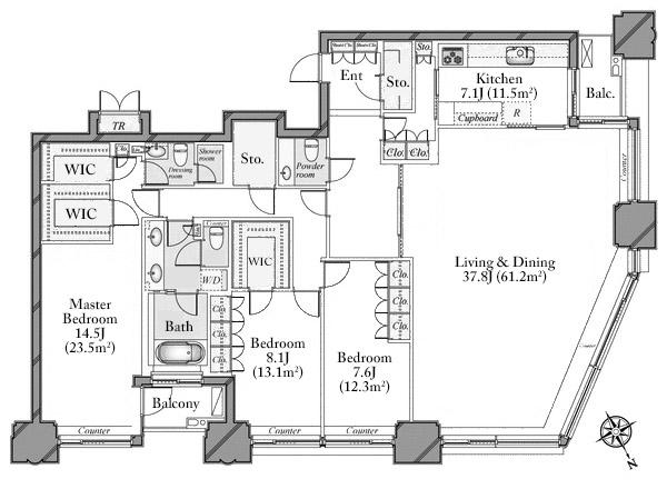 aoyama-park-tower-32f-floorplan