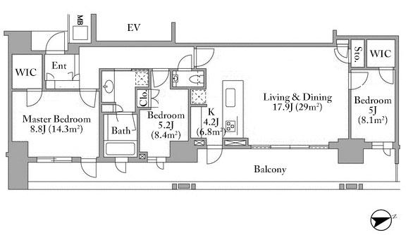 branz-azabu-mamianacho-7f-floorplan