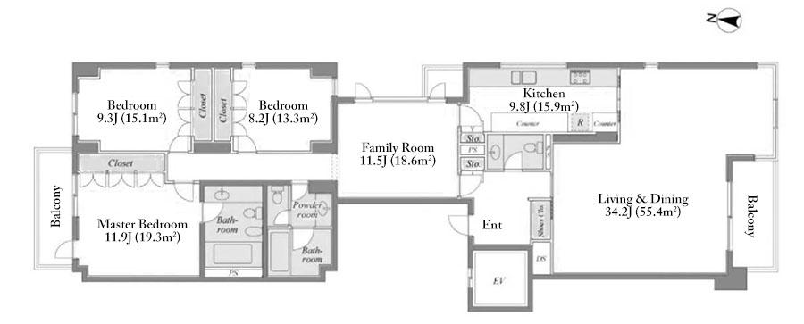 garden-grass-minamiazabu-1f-floorplan