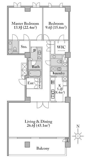 hiroo-garden-hills-south-e-2f-floorplan