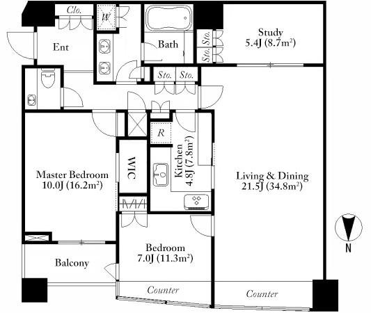 park-court-akasaka-the-tower-41f-floorplan