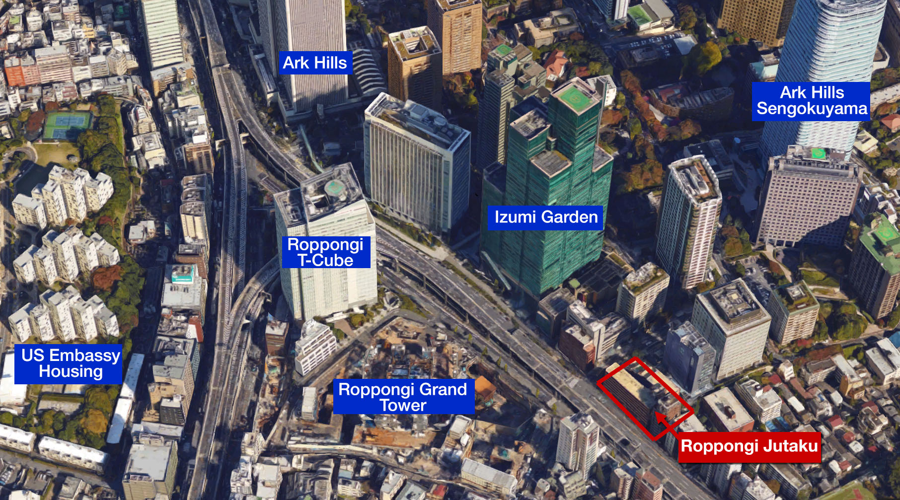 Roppongi land sells for 15 billion Yen (135 million USD)