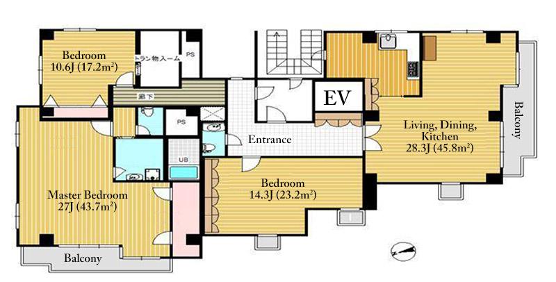crown-aoyama-4f-floor-plan