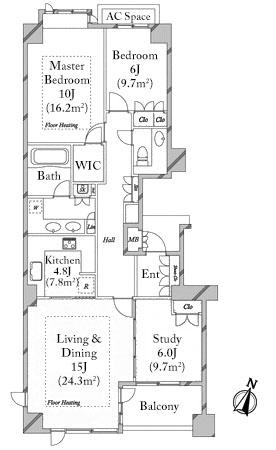 grand-hills-shirokanedai-4f-floorplan