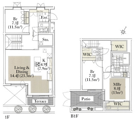 luclass-yoyogi-uehara-1f-floorplan