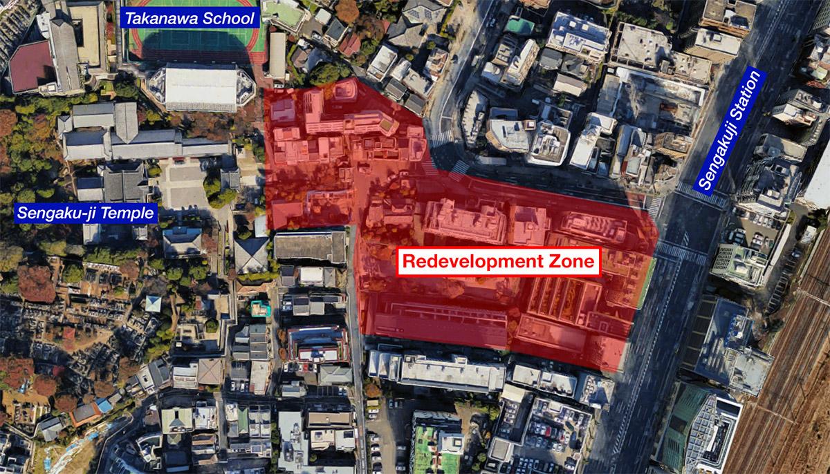 Potential redevelopment for area near Sengaku-ji Temple
