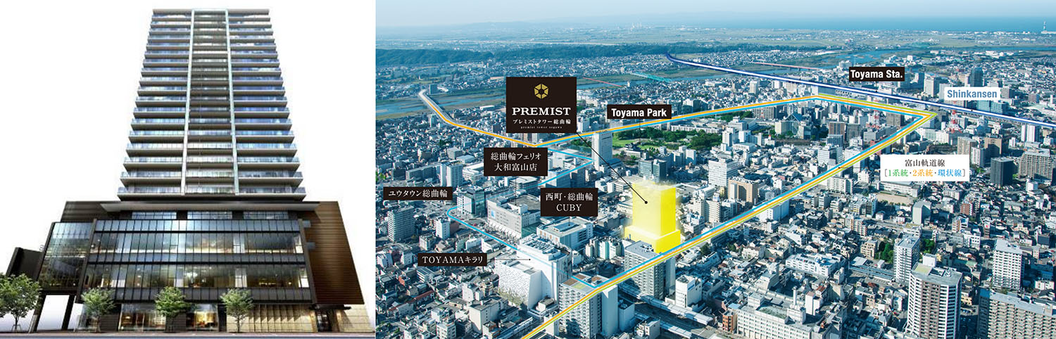 Hokuriku region's largest apartment building to be completed in 2018