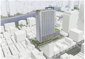 Construction starts on 32-storey apartment building in Tsukishima