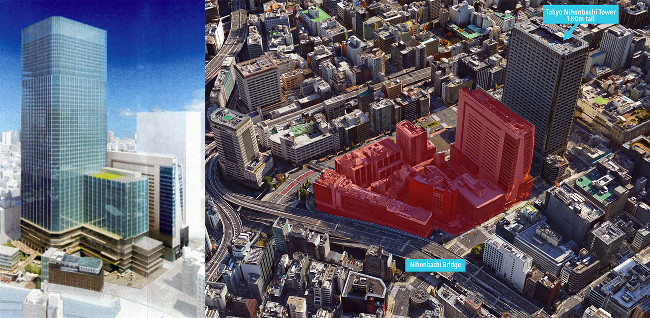287m tall high-rise planned for Nihonbashi