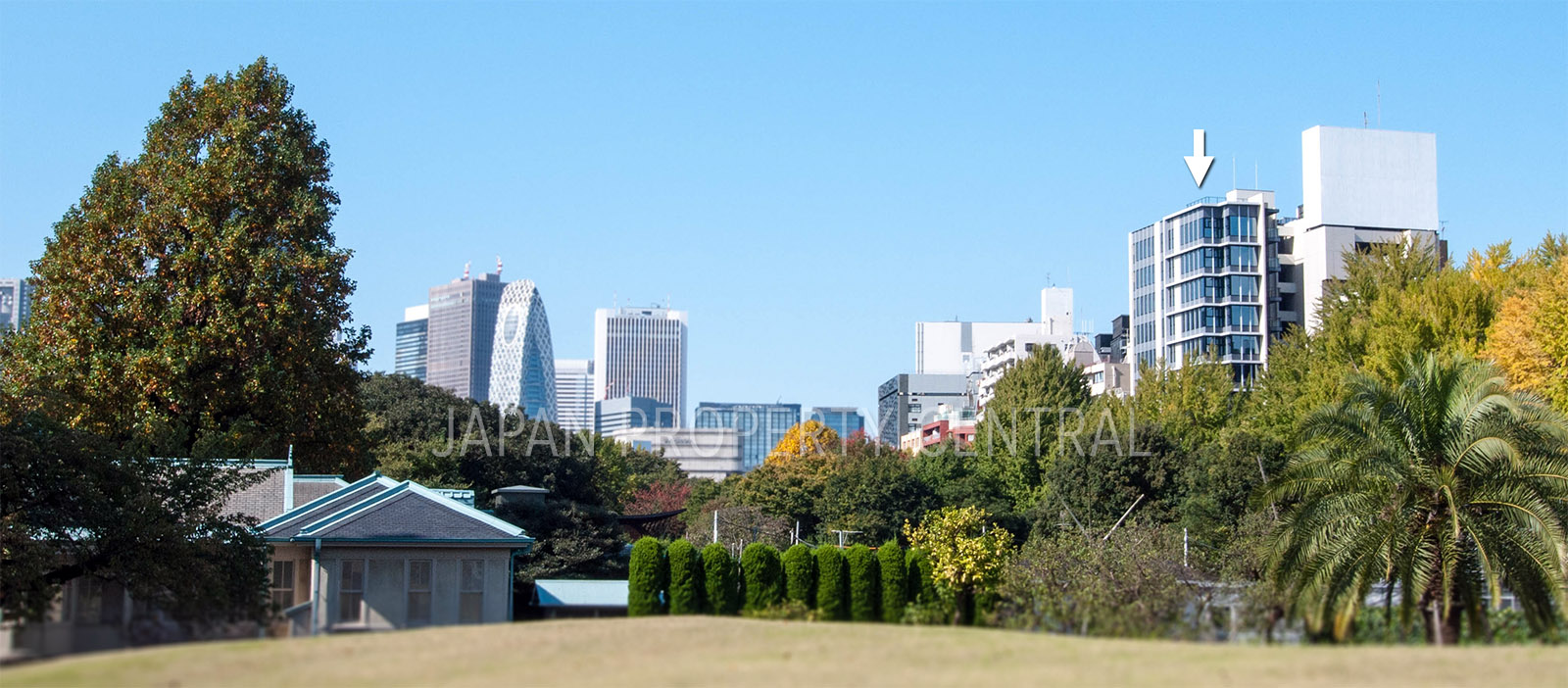 The Parkhouse Shinjuku Gyoen has reached completion