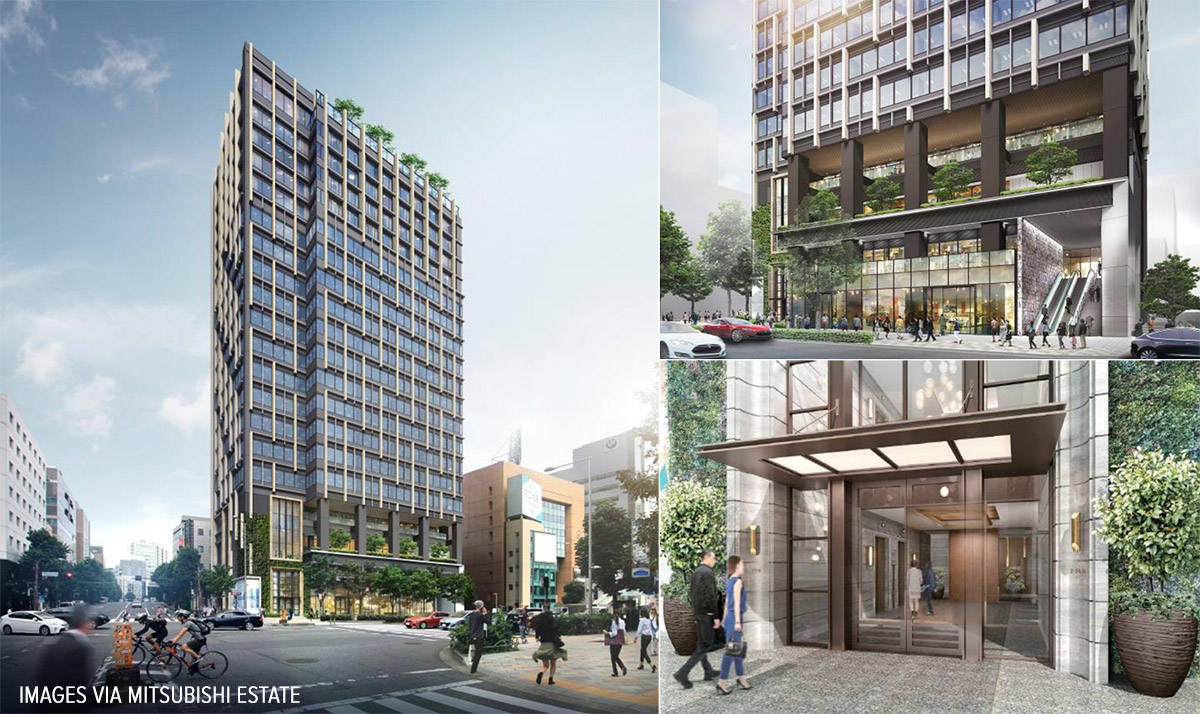 construction starts on aoyama bell commons redevelopment. Black Bedroom Furniture Sets. Home Design Ideas