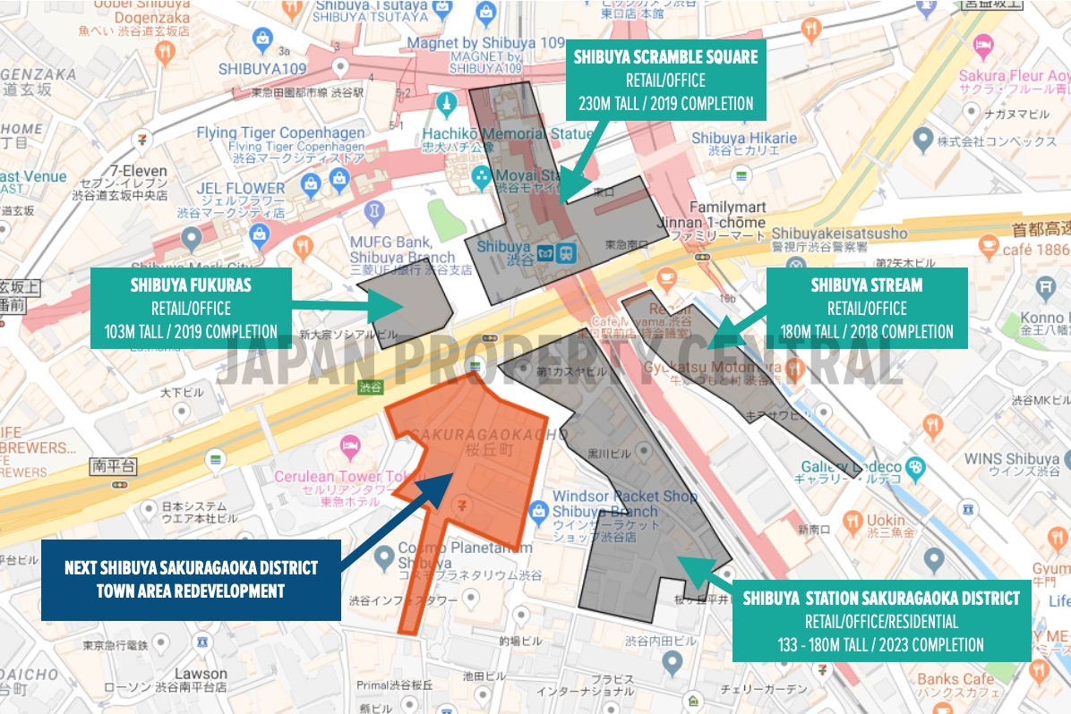 new potential redevelopment plan announced for shibuya